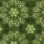Winter Elegance Green Medallion